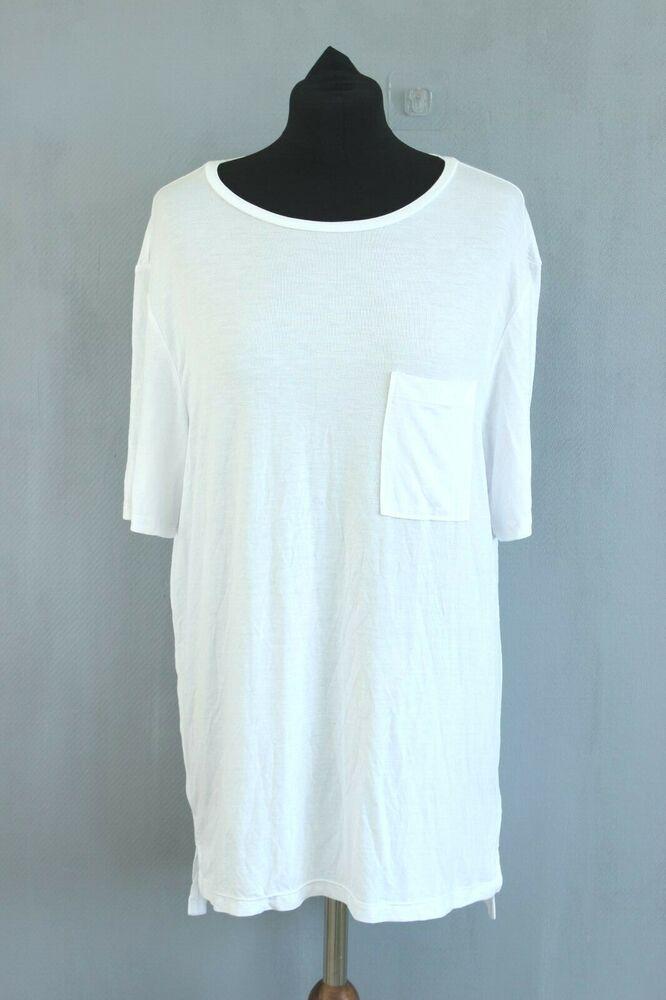 Confiant Guess Bnwt 69 Unisexe Pour Homme Et Femme Blanc Élastique Desseré T-shirt Size 2 êTre Nouveau Dans La Conception