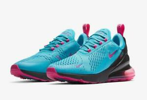 best service 1e983 0843e Details about NIKE AIR MAX 270 SOUTH BEACH BV6078 400 LIGHT BLUE FURY/LASER  FUCHSIA/PINK/BLACK