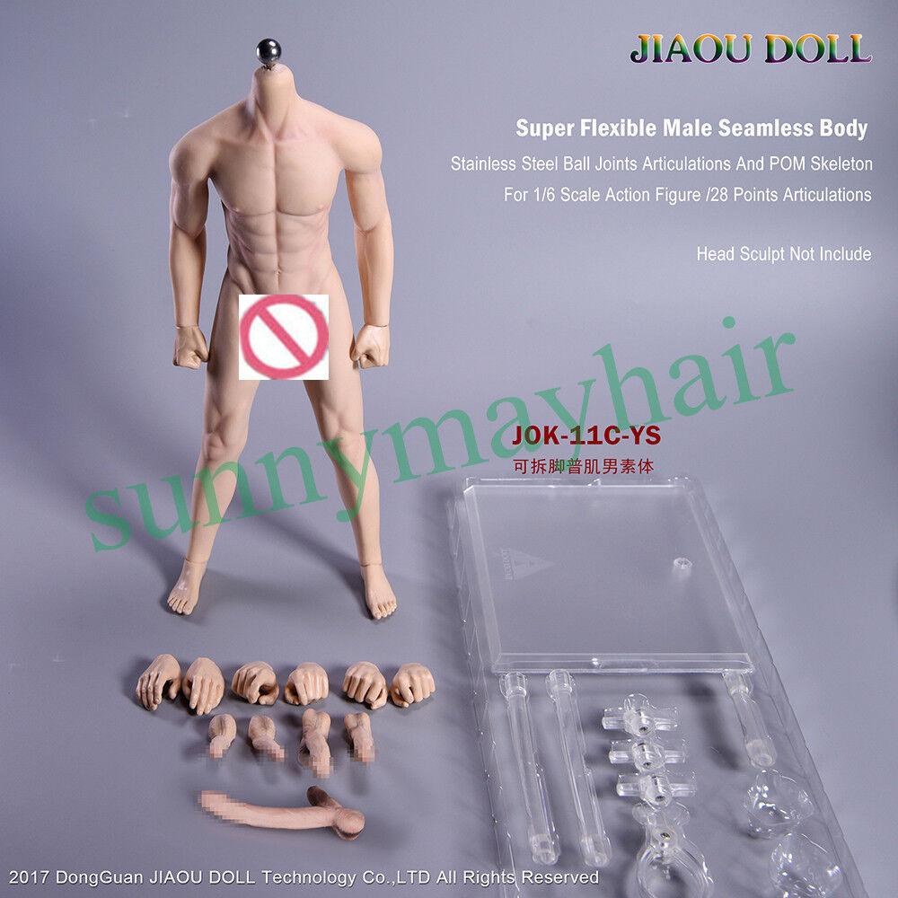 Muñeca jiaou 1 6 3.0 varones sin costuras tan Piel Cuerpo Flexible Con Pie desmantelar