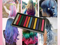 12 colours Hair Temporary Dye Chalk Soft Pastel Styling Set