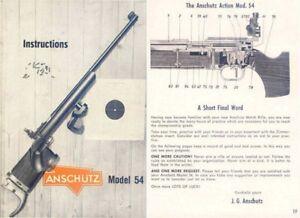 Anschutz Std 20 Instruction manual