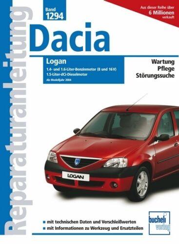 DACIA LOGAN Reparaturanleitung Reparaturbuch Reparatur-Handbuch BUCH Bordbuch