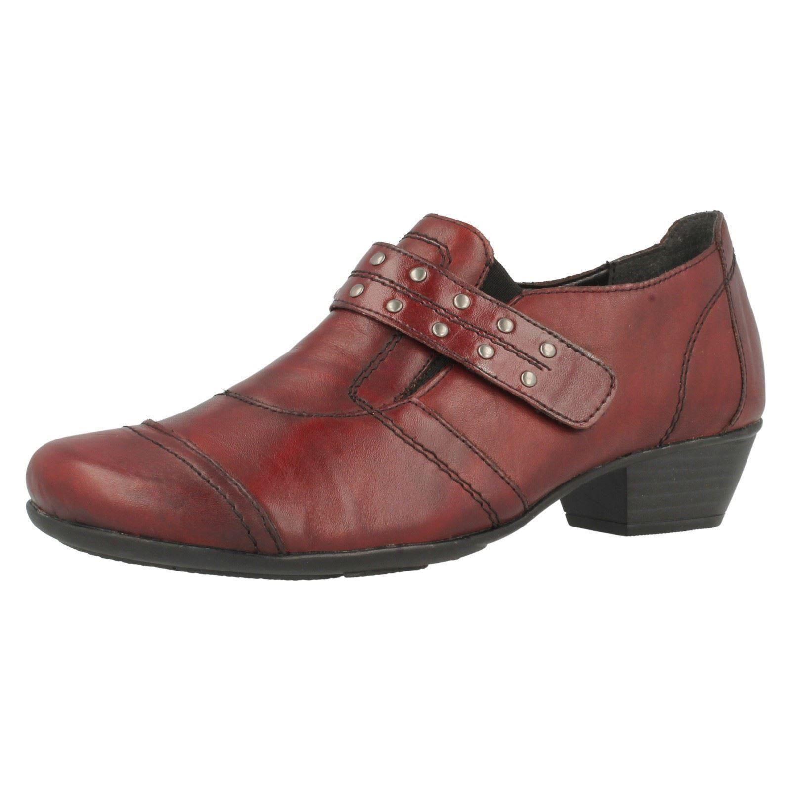 Ladies Remonte Smart Dorndorf D7331-35 Red Leather Smart Remonte Shoes e2609d
