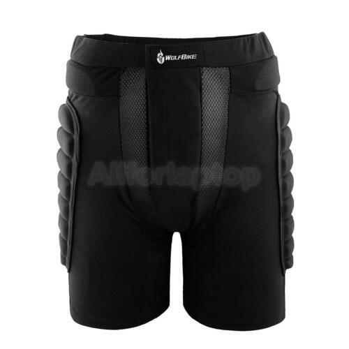 Schützende Fahrrad Unisex Hose mit Dicke Atmungsaktiv Polsterung Schwarz