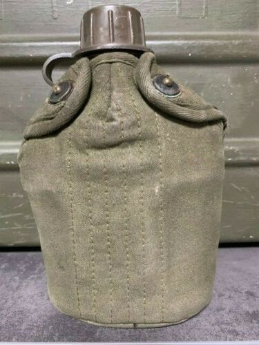 GI Dutch Army Water Bottle Stainless Steel Mug Cover Military Surplus Canteen G1