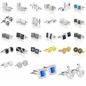 Zodaca-Classic-Fashion-Men-039-s-Wedding-Party-Cufflinks-Cuff-Links