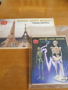 2 Wooden Craft Models-afficher Le Titre D'origine