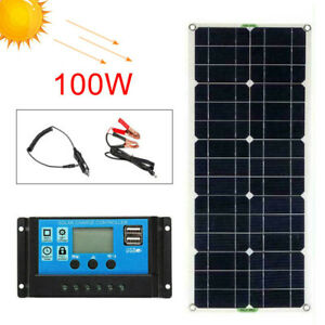 100w 12v solar set planta solar panel solar juego de isla apéndice jardín camping módulo solar