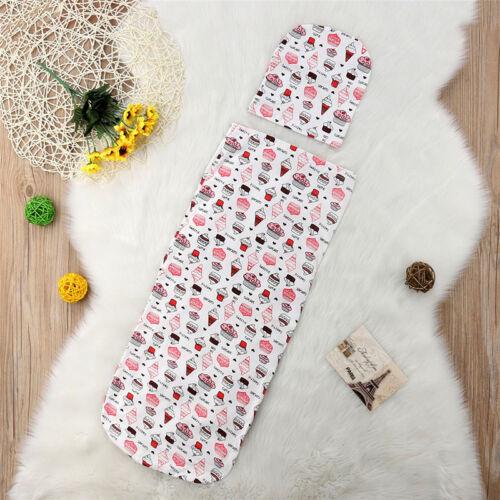 Newborn Infant Baby Blanket Swaddle Sleeping Bag Stroller Wrap Sleepsacks Winter