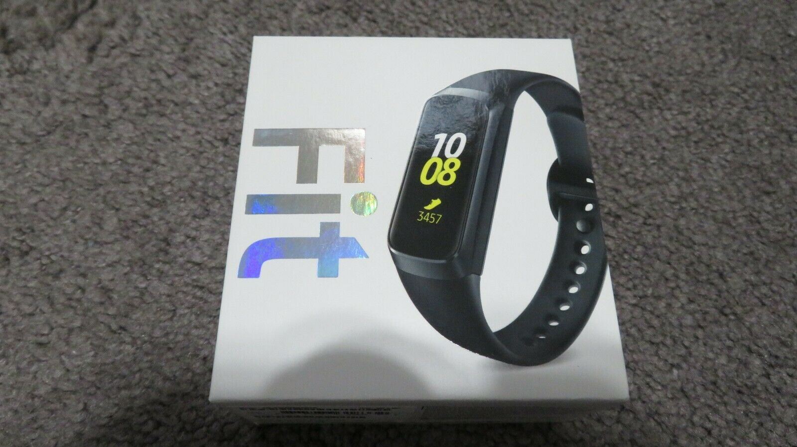 Samsung - Galaxy Fit Activity Tracker + Heart Rate - Black Model:SM-R370NZKAXAR