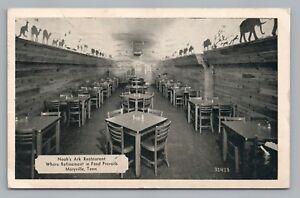 Details About Noah S Ark Restaurant Maryville Tn Vintage Biblical Roadside Interior 1946