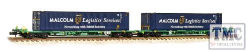 377-353A Farish N FIA Intermodal Bogie Wagons w// /'Malcolm Logistics/' 45ft Cont