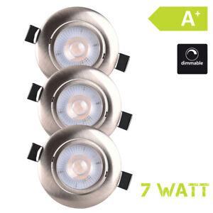 LED-Luce-da-Incasso-Spot-Dimmerabile-230V-7W-Bianco-Caldo-3er-Set