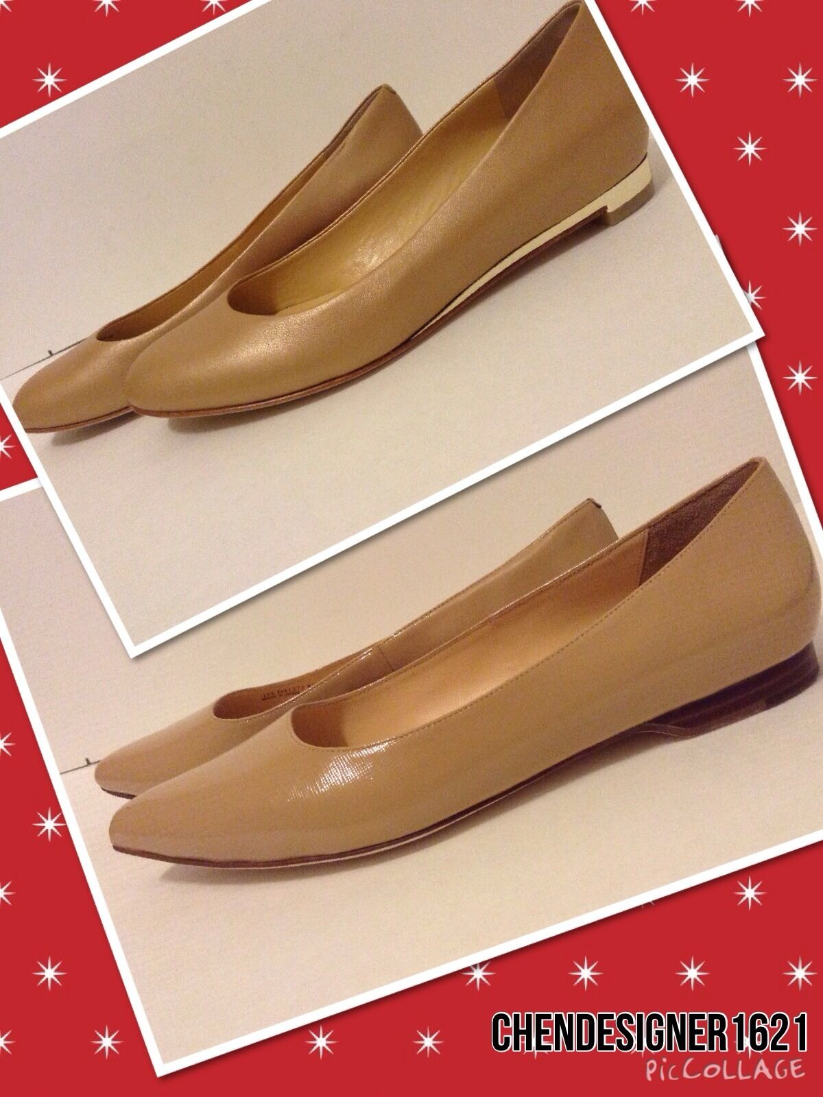Cole Haan Dimensione 6, 8.5 US Magnolia or Astoria Skimmer nude Leather Flat scarpe