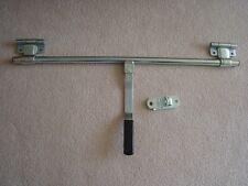 """36""""swing hinge trailer cam action side door LOCK BAR handle+hasp truck cargo"""