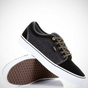 ae90b30ee7e6 NEW VANS CHUKKA LOW WOOL BLACK GOLD SZ SIZE WOMENS 8.5 25 CM SHOES ...