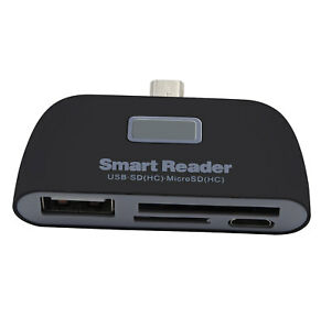 Details about Micro Adapter HUB 4-in-1 Card Reader USB/TF/SD OTG For Lenovo  P2