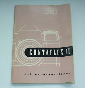 Zeiss-Ikon-Contaflex-II-Kamera-Bedienungsanleitung-Owners-Manual-Anleitung