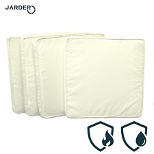 GARDEN CUSHIONS FOR CHAIR BENCH PATIO CREAM CUSHION SET OUTDOOR WATERPROOF THICK