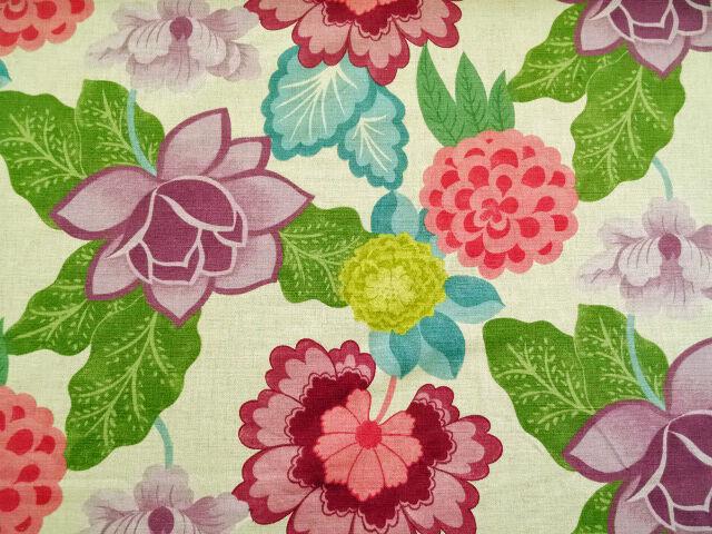 Designer Osborne Little Kilkea Natural Floral Upholstery Fabric