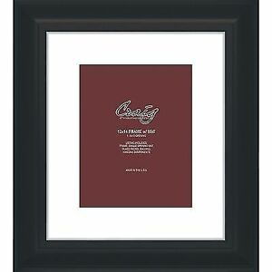 Craig Frames 12x14 2 Black Picture Frame White Mat With Opening For