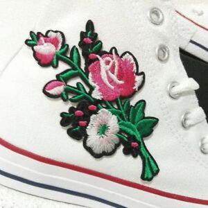 Converse personnalisées High Star Blancs Patch All Patchs Fleurs f6b7gy