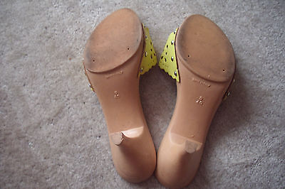 Schuhe, Clogs, Pumps, Sandaletten, Echtleder, Holzoptik, Gr. 40, neuwertig