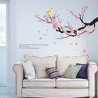 BLOSSOM FLOWERS TREE BRANCH WALL ART STICKERS NEW VINYL DECAL HOME DIY DECOR