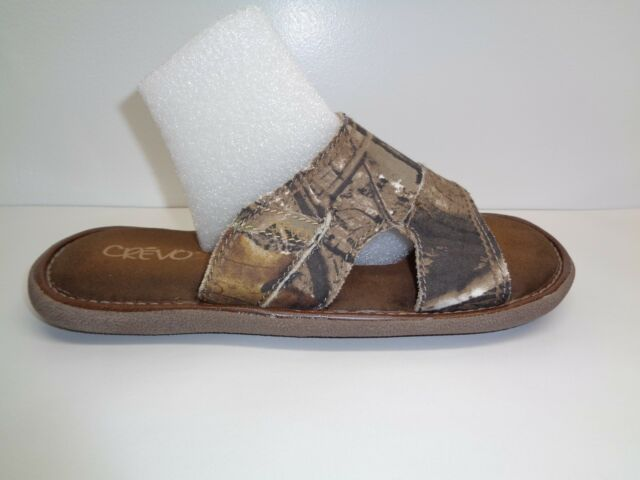 f39fd9a22dac Crevo Size 8 BAJA REALTREE Real Tree Fabric Slides Sandals New Mens Shoes