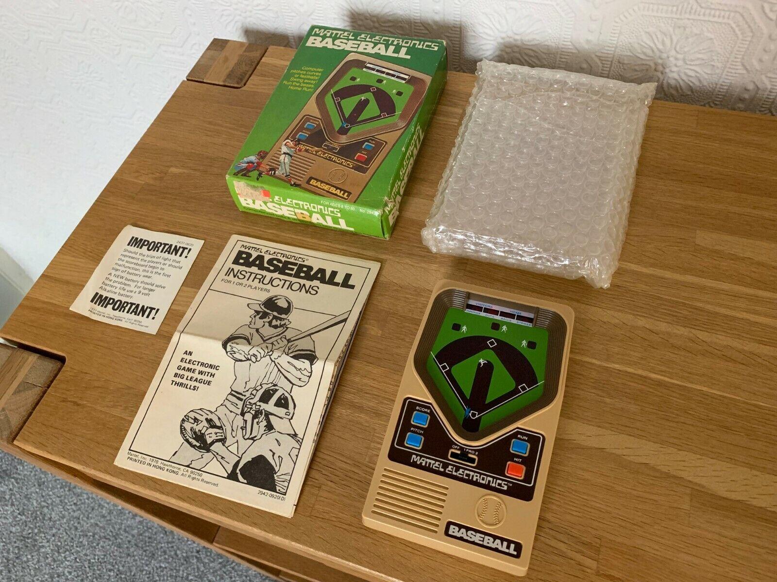 Very Rare Boxed Mattel Electronics Baseball Vintage 1978 1978 LED Handheld Game Mint
