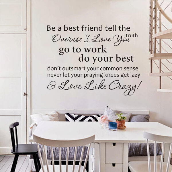 Be A Best Friend Tell The Truth Lee Brice Sticker Art Vinyl Wall Decal Quote Q59