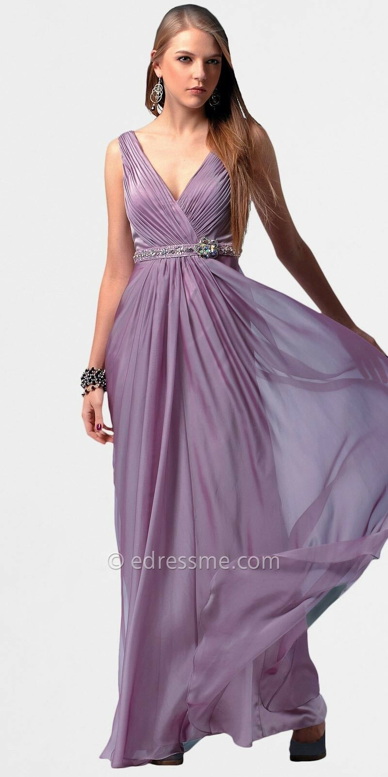 Deep-V Prom Dresses with Embellished Belt from from from LM Collection 6e7b95