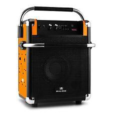 DJ PA PORTABLE ACTIVE SPEAKER SOUND SYSTEM WIRELESS BLUETOOTH USB FM RADIO TUNER