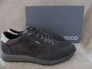 Image is loading ECCO-Sneak-Trend-Mens-Lace-Leather-Slate-Mocha-