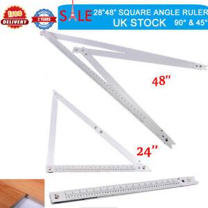 """24/""""//48/"""" Large Folding Square Angle Ruler Measure Tool Carpentry//Patio Aluminium"""