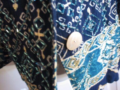 à rayures motifs motifs blanches de et taille S bleues à Surya femmes Nwt pour Blouse 51wIggqY