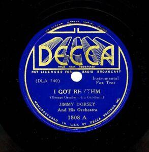 JIMMY-DORSEY-on-1937-Decca-1508-I-Got-Rhythm-Flight-of-the-Bumblebee