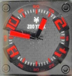 Men-Zoo-York-Watch-Big-Man-039-s-Red-amp-Black-Silicone-Band-Analog-Quartz-New-Battery