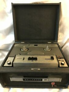 Vintage-Wollensak-Model-1220-Tape-Recorder-Reel-with-Case-For-Parts-Decor-3M-Old