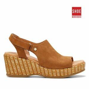 Hush Puppies ARUBA Brown Womens Heels Dress/Formal Nubuck Leather Heels