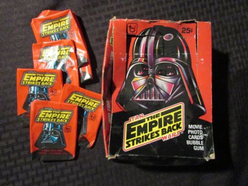 1980 STAR WARS Empire Strikes Back Trading Card BOX & 33 Wrappers VGVG+