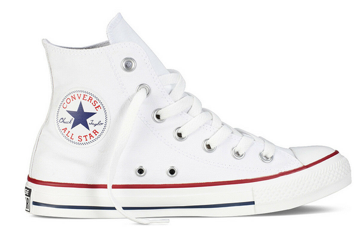 Converse All Star HI chaussures Femme blanc Basket En Toile Taille UK 3 - 8