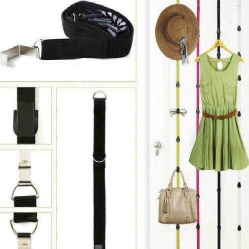 7 Haken Über Tür-Bügel-Aufhänger-Hut-Kleidung-Mantel Organizer Einstellbare FA3