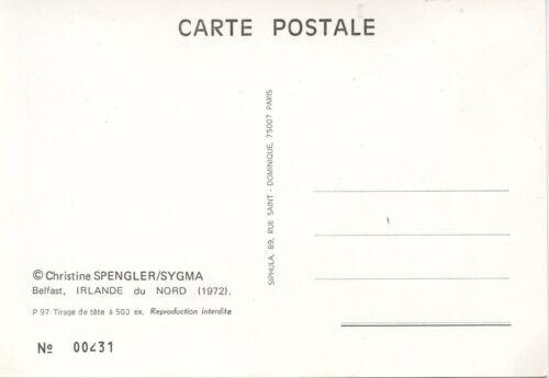 CARTE POSTALE PHOTO ILLUSTRATEUR CHRISTINE SPENGLER BELFAST IRLANDE DU NORD 1972