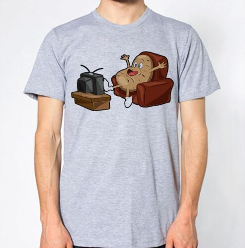Couch Potato T-Shirt TV Lazy Sofa Top Funny