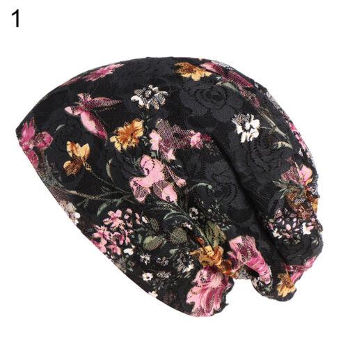 Eg /_ Damen Ethnisch Spitze Blume Bauschige Mütze Kappe Frühling Sommer Freizei