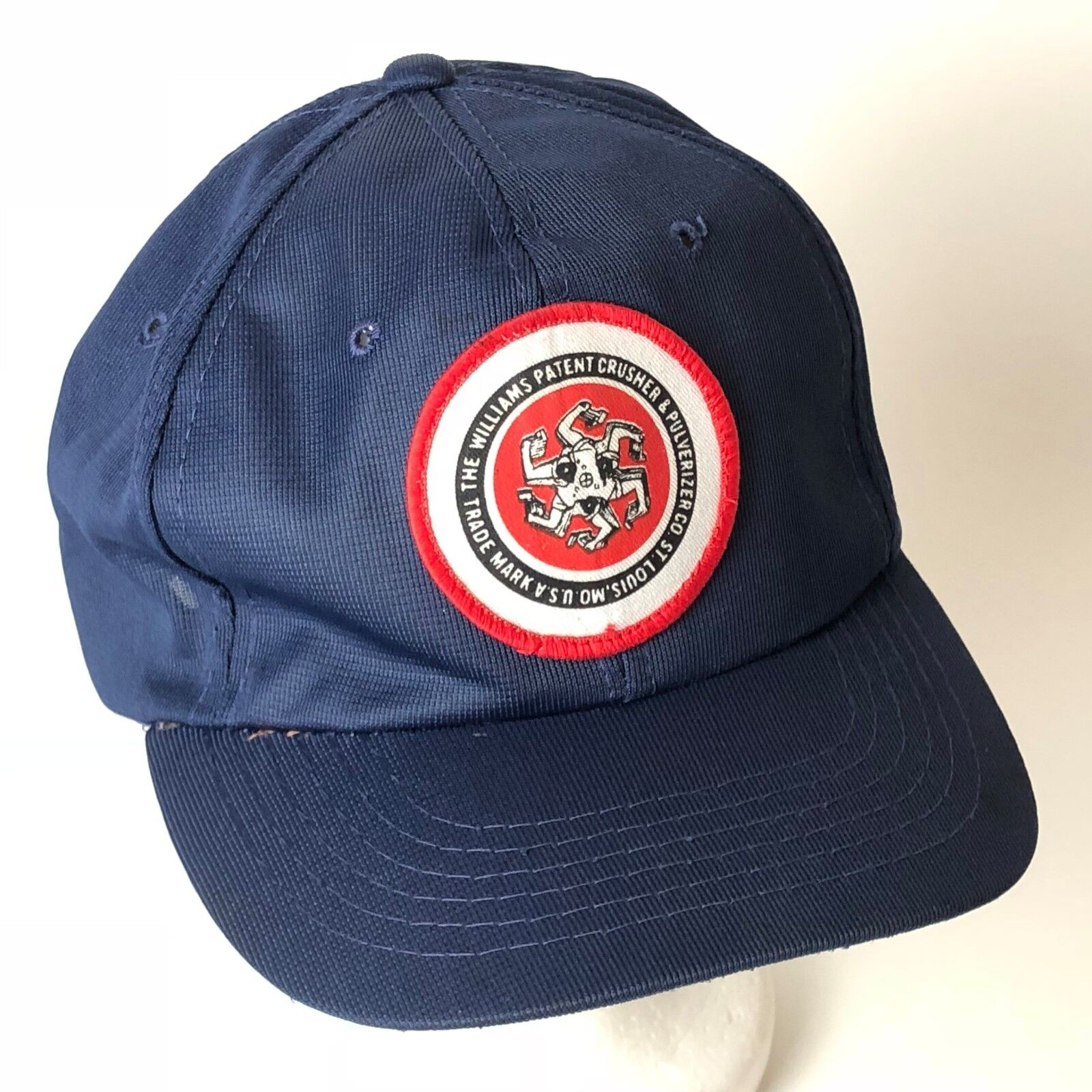brand new 4365a 88e71 ... new arrivals vintage snapback hat and cap williams patent crusher and  hat pulverizer co men blue