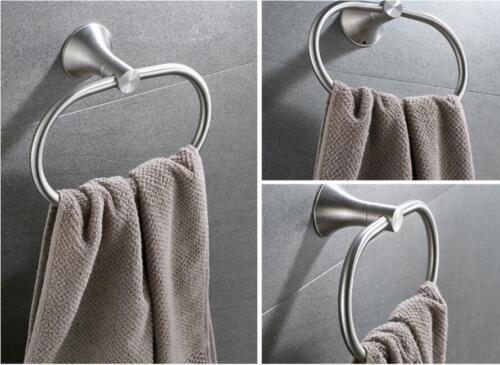Stainless Steel Towel Ring Holder Bathroom Round Hanger Accessories Bath Shelf
