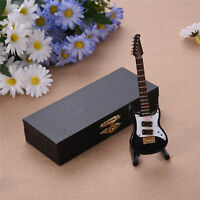Miniature Guitar With Bow Musical Instrument Ornament Musical Boxed Dolls House