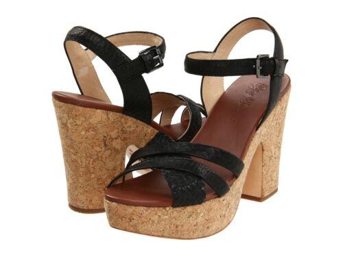 80/% OFF NEW MATT BERNSON Mak Open Toe Sandal Black Puff  $209 Retail